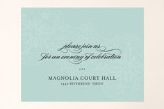 White Lace Reception Cards by Lauren Chism at minted.com