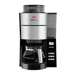 Erstklassiger Kaffeegenuss: Schwarze Edelstahl-Filterkaffeemaschine mit integriertem Mahlwerk und Mahlgradeinstellung fein bis grob, Zubereitung mit bereits gemahlenem Kaffeepulver mit Melitta Filtertüten Größe 1 x 4 Automatischer Brühstart: Timer-Funktion inkl. Uhr mit LCD-Anzeige zum Vorprogrammieren der Brühzeit, Automatisches Anschalten des Geräts zur programmierten Zeit, Ideal für den ersten Kaffee am frühen Morgen Einfache Handhabung: Schwenkfilter zum Befüllen mit Kaffeepulver…