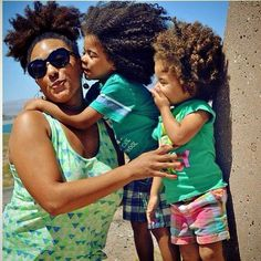 natural hair family - mother & children