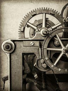 De oude Machine van Martin Bergsma op canvas, behang en meer