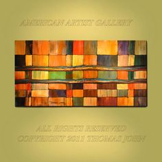 ABSTRACT ORIGINAL Painting  Large 24X48 by THOMASJOHNARTGALLERY, $199.70