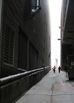 in the alley
