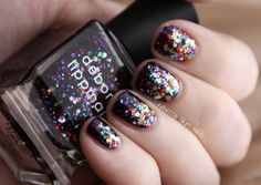Deborah Lippmann's Let's Go Crazy+Happy Birthday Nails