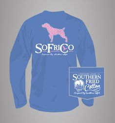 Polka Pointer Long Sleeve/mystic blue – Southern Fried Cotton