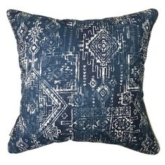 Aztec Navy Pillow #pillows #throwpillow #interiors #homedecor #cushions #mialiving