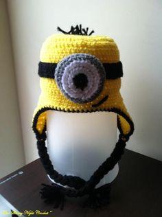 Crocheting  Despicable Minion Hat no pattern 818d957176e5