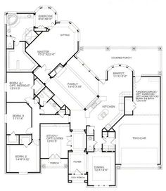 I never thought I would like a 1-story home...but the more I look at this plan, the more I think it works!