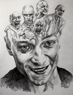 Drawings and paintings by artist David Theron. Found via the April Reader Submissions post. More images below. David Theron's Website Dark Art Drawings, Pencil Art Drawings, Art Drawings Sketches, Distortion Art, Art Alevel, Gcse Art Sketchbook, Aesthetic Drawing, Aesthetic Art, Ap Art