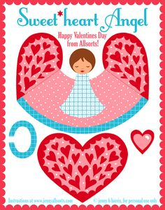 Sweet heart angels - pretty DIY, great to do with your kids