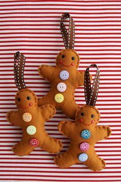 Felt ginger bread ornament-DIY