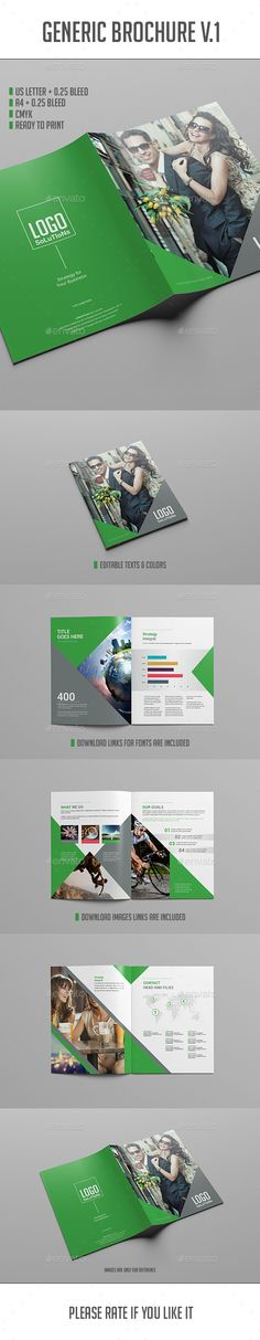 Interior Bifold Brochure Brochure template, Brochures and Tri - advertising brochure template