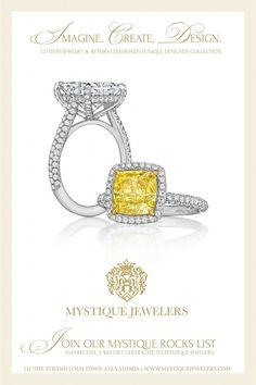 How about a $50 Gift Certificate to Mystique Jewelers? Just in time for Valentine's Day! Join our Mystique Rocks list and your gift certificate will be emailed to you. www.mystiquejewelers.com