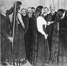 Contestants in Berlin/Germany about 1910.