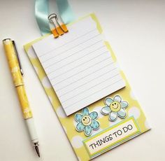 Things To Do - Hanging Notepad Holder - Little Flowers £4.50