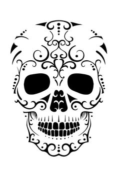 Looking for free pumpkin patterns. You can find easy, free, difficult, scary and fun pumpkin patterns and stencils. Printable Pumpkin Patterns, Pumpkin Template, Pumpkin Carving Templates, Sugar Skull Pumpkin Stencil, Sugar Skull Art, Sugar Skulls, Stencil Patterns, Stencil Designs, Halloween Goodies
