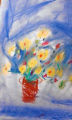 Letní kytice. Vytvořili školáci v našem výtvarném studiu. Studios, Painting, Painting Art, Paintings, Painted Canvas, Drawings