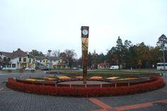 Horloge ''Laima'', place de la gare. Sigulda.