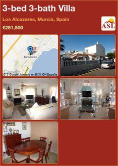 3-bed 3-bath Villa in Los Alcazares, Murcia, Spain ►€281,500 #PropertyForSaleInSpain