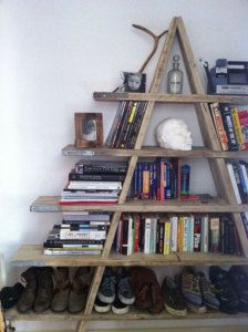 Scaffolding Board Shelving Ladder - reclaimed in Home, Furniture & DIY, Furniture, Bookcases, Shelving & Storage Reclaimed Wood Shelves, Reclaimed Furniture, Pallet Shelves, Rustic Shelves, Stair Storage, Storage Shelves, Shelving Ideas, Garage Storage, Shelf