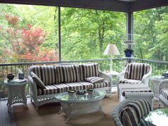 feeling like you're outside without the bugs, and with nice furniture