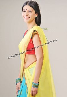 shruti half saree