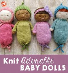 Make adorable DIY baby dolls! This knitting pattern will be your new best friend for baby showers, birthdays and beyond.