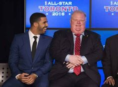 Disgraced Toronto mayor Rob Ford | 21 Times Drake Made New Friends In 2013