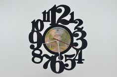 Vinyl Record Album Wall Clock artist is Seals by vinylclockwork, $23.00