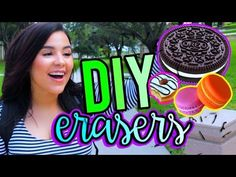 DIY ERASERS! Easy DIY Back To School Supplies! - YouTube