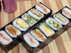Rice Sandwiches for Bento Lunch Meal Prep, Lunch Menu, Lunch Recipes, Cooking Recipes, Healthy Recipes, Sushi Menu, A Food, Food And Drink, Onigirazu