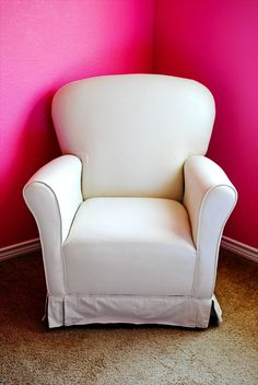 DIY Original tutorial for Painting Upholstered Furniture - uses Textile Medium to keep it form feeling stiff plus latex paint (use those coupons!!)