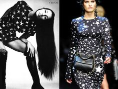 Cher, photographed by Richard Avedon, 1969, and Dolce and Gabbana F/W 2011.