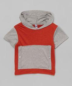 NANO Rust Pocket Hoodie - Infant, Toddler & Boys | zulily