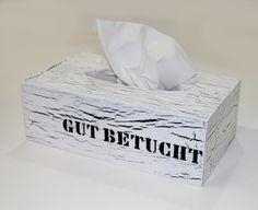 """""""GUT BETUCHT"""" Dank der neuen Tuchbox♥ von toultime auf DaWanda.com"""