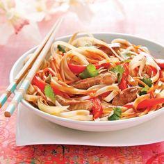 Pork Recipes, Asian Recipes, Cooking Recipes, Ethnic Recipes, Thai Wok, Sauce Thai, Pasta, Asian Cooking, Japchae