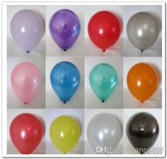 Wholesale Latex Balloons - Buy 12 2.8g Latex Balloons Pearl Balloons Decorations for Wedding, Birthday, Holiday, Party,carnival, Valentine's...