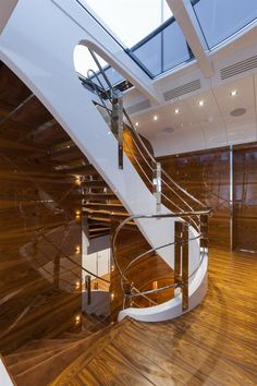 Interior Design Award at the recently held World Yacht Trophies in Luxury Yacht Interior, Boat Interior, Interior Office, Interior Design Awards, Best Interior Design, Nautical Home, Nautical Style, Nautical Lamps, Nautical Interior