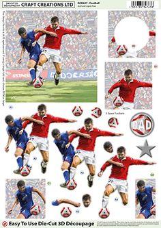 Football Die-Cut Découpage DCD627