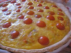 O Barriguinhas: Quiche de Frango e Tomate Cereja Quiches, Desserts, Food, Chicken Quiche, Cherry Tomatoes, Tailgate Desserts, Deserts, Essen, Postres