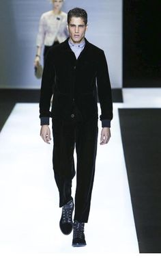 fabio mancini open the giorgio armani show womenswear fall winter 2016