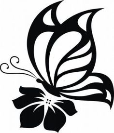Details about Butterfly Cute Sexy Girly Car Truck Window Vinyl Decal Sticker 10 COLORS - Kathya Coutto Stencil Patterns, Stencil Art, Stencil Designs, Stenciling, Butterfly On Flower, Butterfly Stencil, Tattoo Foto, Girly Car, Kirigami