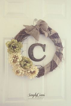 Add orange, red, and yellow for fall wreath