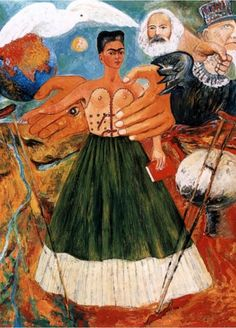 Marxism-Will-Give-Health-to-the-Sick-1954-by-Frida-Kahlo