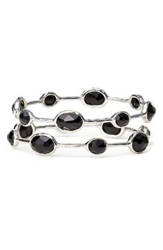Ippolita 'Rock Candy' Eight Stone Sterling Silver Bangle