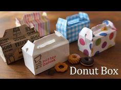 おりがみ1枚でドーナツの箱の作り方。折り紙で工作Donut Box 【origami】(#77) - YouTube