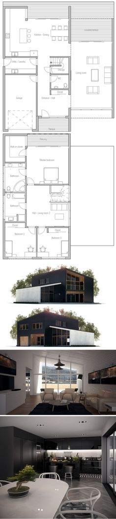 Well I hate the grey/black & it needs a flat roof for a deck above the living and could probably be shrunk down.