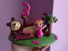 cake topper compleanno Masha e orso fimo