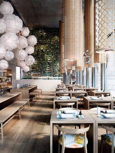Restaurant interior visualizations