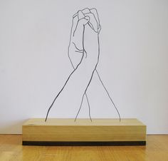 Creative Gavin, Worth, Ignant, Sculpture, and Wire image ideas & inspiration on Designspiration Line Sculpture, Steel Sculpture, Sculpture Ideas, Modern Sculpture, Wire Art Sculpture, Sculpture Lessons, Sculpture Projects, Pottery Sculpture, Abstract Sculpture
