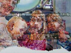 Kira Wager. Paintings 2012 - Gardermoen 1.1 2012, oil on pvc, 121 x 161 cm